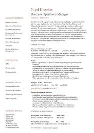 Examples Of A College Resume by Business Operations Manager Resume Examples Cv Templates Samples