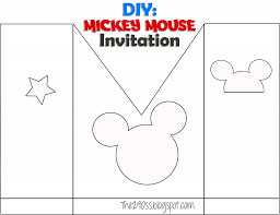 mickey mouse invitations diy do it your self diy