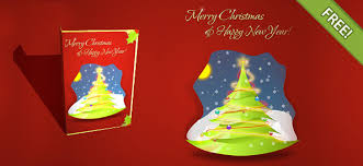 30 christmas free psd holiday card templates for design and