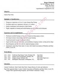 Plumbing Supervisor Resume Sample Pipefitter Resume Examples Free Resume Templates Resume Examples