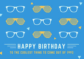 Birthday Cards Cool Glasses Birthday Card Templates By Canva