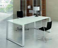 table de bureau en verre selection de bureaux en verre trempé blanc