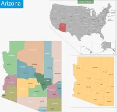 Arizona County Map by Map Of Arizona