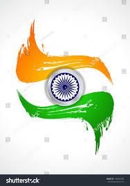 Flag Com Creative Grungy Indian Flag Design Indian Stock Vektorgrafik