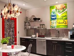 Backsplash Kitchen Glass Tile Glass Tile Modern Sink With Chrome Floating Rack And Bookcase