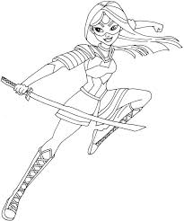 free printable super hero high coloring pages katana super hero