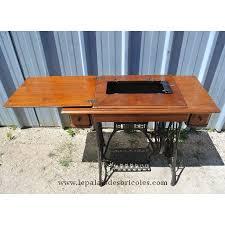 le bureau ancienne ancienne table de machine à coudre singer pour table le palais des