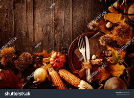 thanksgiving still life thanksgiving dinner autumn fruit plate cutlery stock photo