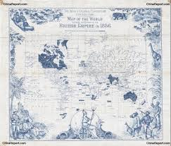 British India Map by Map British World Empire In 1860 Ad