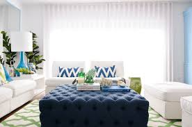 navy blue and white ottoman navy tufted ottoman living room maria barros
