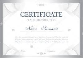 blank certificate template word certificate in word award