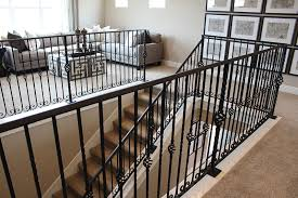 Metal Stair Rails And Banisters Metal Stair Railing Systems Stairs Interesting Stairwell Railing