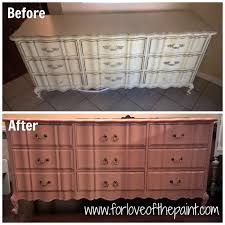 Bassett French Provincial Bedroom Furniture by For Love Of The Paint Before And After 9 Drawer French