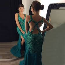 Canada Long Mermaid Prom Dresses High Slit Supply Long Mermaid
