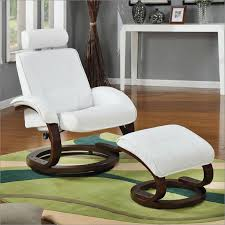 rocker recliner with ottoman tc888 leather reclining rocking swivel chair and ottoman in snow
