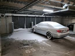 one car garage size this one car in my parking garage was blasted with snow because