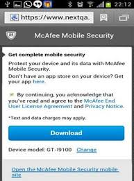 mcafee mobile security apk mcafee kb how to and install mobile security for