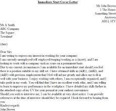 immediate start cover letter example icover org uk