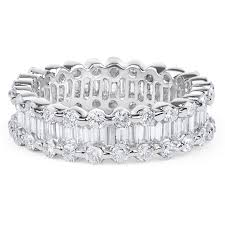 white eternity rings images Baguette and round diamond eternity ring in 18k white gold 4 02ct jpg