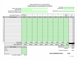 cost estimate template x schedule employee payroll record google
