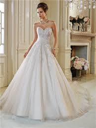 Strapless Wedding Dress Ball Gown Strapless Sweetheart Applique Beaded Crystal Wedding