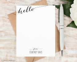 personalized notecards personalized note card set flat personalized stationary