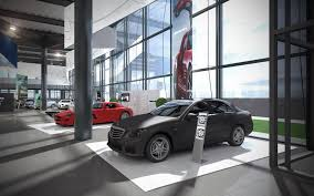 mercedes showroom exterior 3d lab visualizations u0026 interior