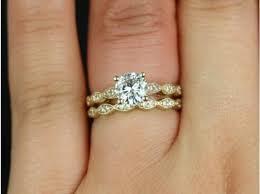 6mm diamond rosados box helena 6mm yellow gold f1 moissanite wedding