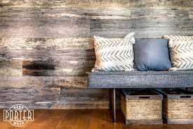 Wood Wall Living Room Ray Living Room Porter Barn Wood