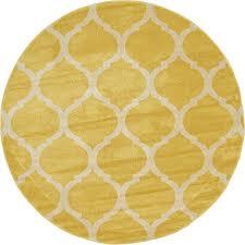 yellow 6 u0027 x 6 u0027 trellis round rug area rugs esalerugs