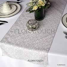 silver table runners for wedding 4375