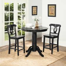 3 Piece Kitchen Table by Dorel Home Furnishings Aubrey 3 Piece Black Counter Height Dining