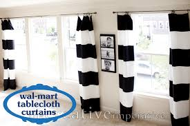 black and white horizontal striped curtains for charming home decoration ideas