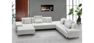 Modern White Bonded Leather Sectional Sofa Modern Furniture Sacramento Modern Furniture For Your