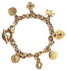 gold vintage bracelet images Agatha paris gold tone vintage charm bracelet arabella bianco jpg