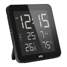 braun bnc014 digital wall clock black u2013 luft alarm clock braun