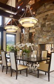 Dining Room Light Fittings 15 Gorgeous Dining Rooms With Stone Walls
