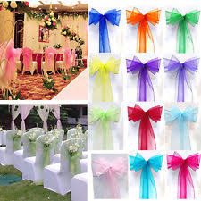 Chair Cover Sashes Organza Chair Sash Venue Decorations Ebay
