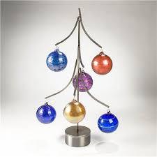 tree ornament display steel six ornaments