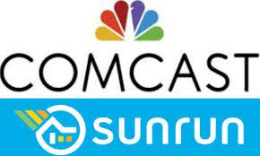 sunrun logo comcast to market residential solar power program to customers