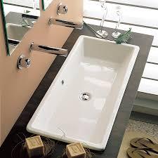 bathroom trough sink nameeks scarabeo 8033 scarabeo gaia washbasin self rimming