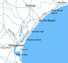 south carolina beaches map myrtle in south carolina overview hits all