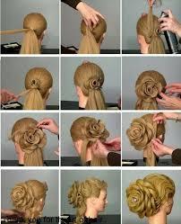 flower hair bun wonderful diy 3d flower shaped updo hairstyle updo flower