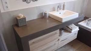 meuble sous vasque sur mesure meuble salle de bain béton ciré design atlantic bain youtube