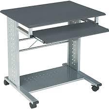 Movable Computer Desk Tiffany Industries Empire Mobile Computer Desk Gray Finish Staples