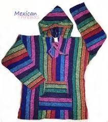 girls mexican baja hoodie sweater jerga pullover pink orange