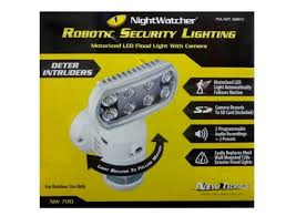 nightwatcher motion tracking motorized led flood light with color camera nightwatcher security light with camera