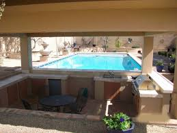 interior covered outdoor kitchens with pool throughout lovely