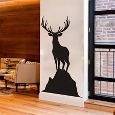 elk deer vinyl wall decal caribou standing on a rock harvest wall