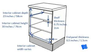 standard kitchen cabinet sizes chart in cm kitchen cabinet dimensions